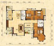 福庆花雨树4室2厅2卫141平方米户型图