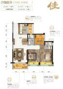 伦教碧桂园3室2厅2卫97平方米户型图