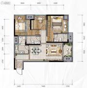 新城悦隽风华3室2厅2卫0平方米户型图