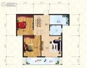 锦天・生态城2室2厅1卫91平方米户型图