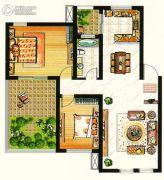 台北城上城2室2厅1卫0平方米户型图