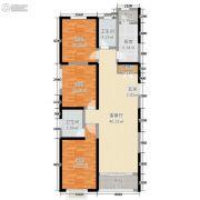 东尚天誉3室2厅2卫107平方米户型图