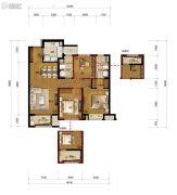 万科城蓝色东方3室2厅2卫105平方米户型图