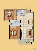香榭丽都2室2厅1卫92平方米户型图
