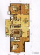 红海湾皇家海岸一期3室2厅1卫127平方米户型图