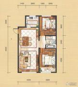 国茂清华园2室2厅1卫94平方米户型图