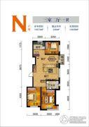 联发・香水湾3室2厅1卫108平方米户型图
