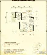 公园1号3室2厅2卫120平方米户型图