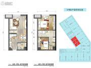 普陀龙湾2室2厅2卫46平方米户型图