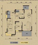 保利国际城翡丽湾2室2厅2卫118平方米户型图