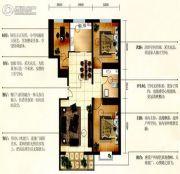 华元名居3室2厅1卫112平方米户型图