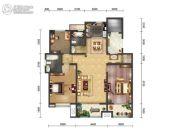 绿地・海珀天沅2室2厅2卫152平方米户型图