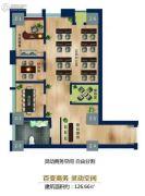 泽润大厦4室1厅1卫126平方米户型图
