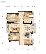 碧桂园・龙熹山4室2厅2卫126平方米户型图