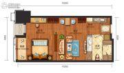 华远国际公寓1室1厅1卫69--74平方米户型图