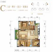 天籁福巴黎之春3室2厅2卫104平方米户型图