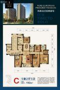 恒嘉 现代城5室2厅3卫192平方米户型图