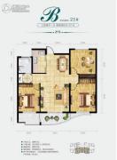 中央绿城3室2厅1卫107平方米户型图