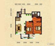 东领伯爵2室2厅2卫94平方米户型图