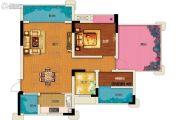 两江春城1室2厅1卫61平方米户型图