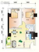 北海大厦2室2厅1卫85平方米户型图