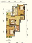 韩建青春�I2室2厅1卫66平方米户型图