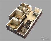 保利城2室1厅1卫77平方米户型图