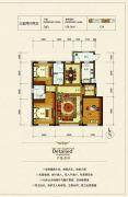 银河太阳城四期3室2厅2卫126平方米户型图