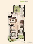 翡丽蓝湾3室2厅2卫118平方米户型图