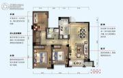 绿城深蓝公寓3室2厅1卫89平方米户型图