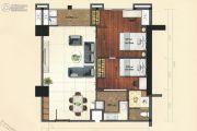 恒德国际2室1厅1卫96平方米户型图