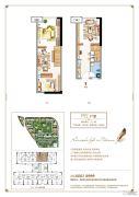 三盛托斯卡纳3期2室2厅1卫32平方米户型图