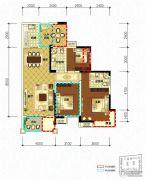 领地・国际公馆3室2厅2卫108平方米户型图