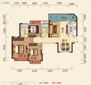 恒大绿洲3室2厅2卫110平方米户型图