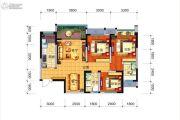 远大中央公园3室2厅2卫97平方米户型图