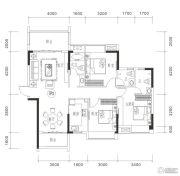御品豪庭3室2厅3卫118平方米户型图