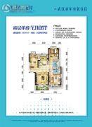 碧桂园生态城左岸3室2厅2卫111平方米户型图