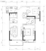 九街十八巷3室2厅1卫110平方米户型图