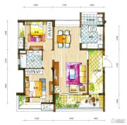 新鸿基悦城2室2厅1卫95平方米户型图