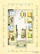 锦绣银湾3室2厅2卫120平方米户型图
