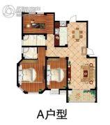 鹏润・格林上郡3室2厅2卫127平方米户型图
