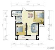 紫林湾2室2厅1卫95平方米户型图