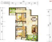 阳光城・甜橙2室2厅1卫80平方米户型图