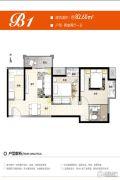 保利心语2室2厅1卫82平方米户型图