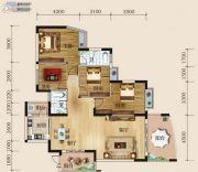华商国际欧洲城4室2厅2卫142平方米户型图