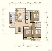 耘进・钟山国际城3室2厅2卫132平方米户型图