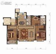 中建悦府3室2厅2卫125平方米户型图