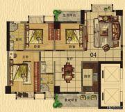 香樟美地3室2厅2卫110平方米户型图