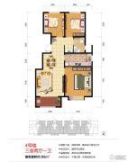 绿地泉景嘉园3室2厅1卫95平方米户型图