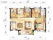 时代春树里4室2厅2卫110--120平方米户型图